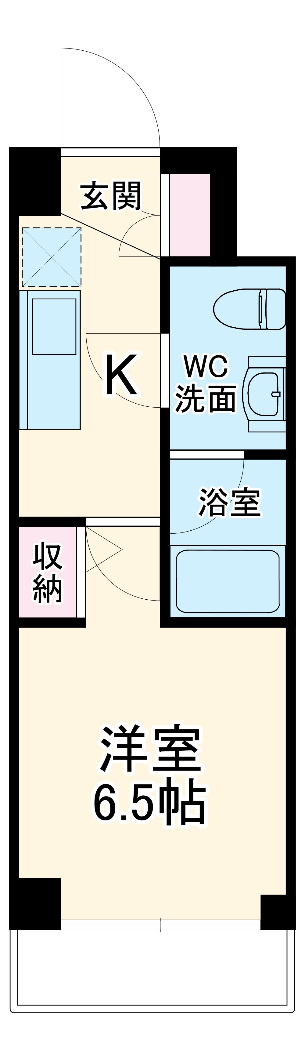 SQUARE CITY YOKOHAMA TSURUMI 204号室の間取り