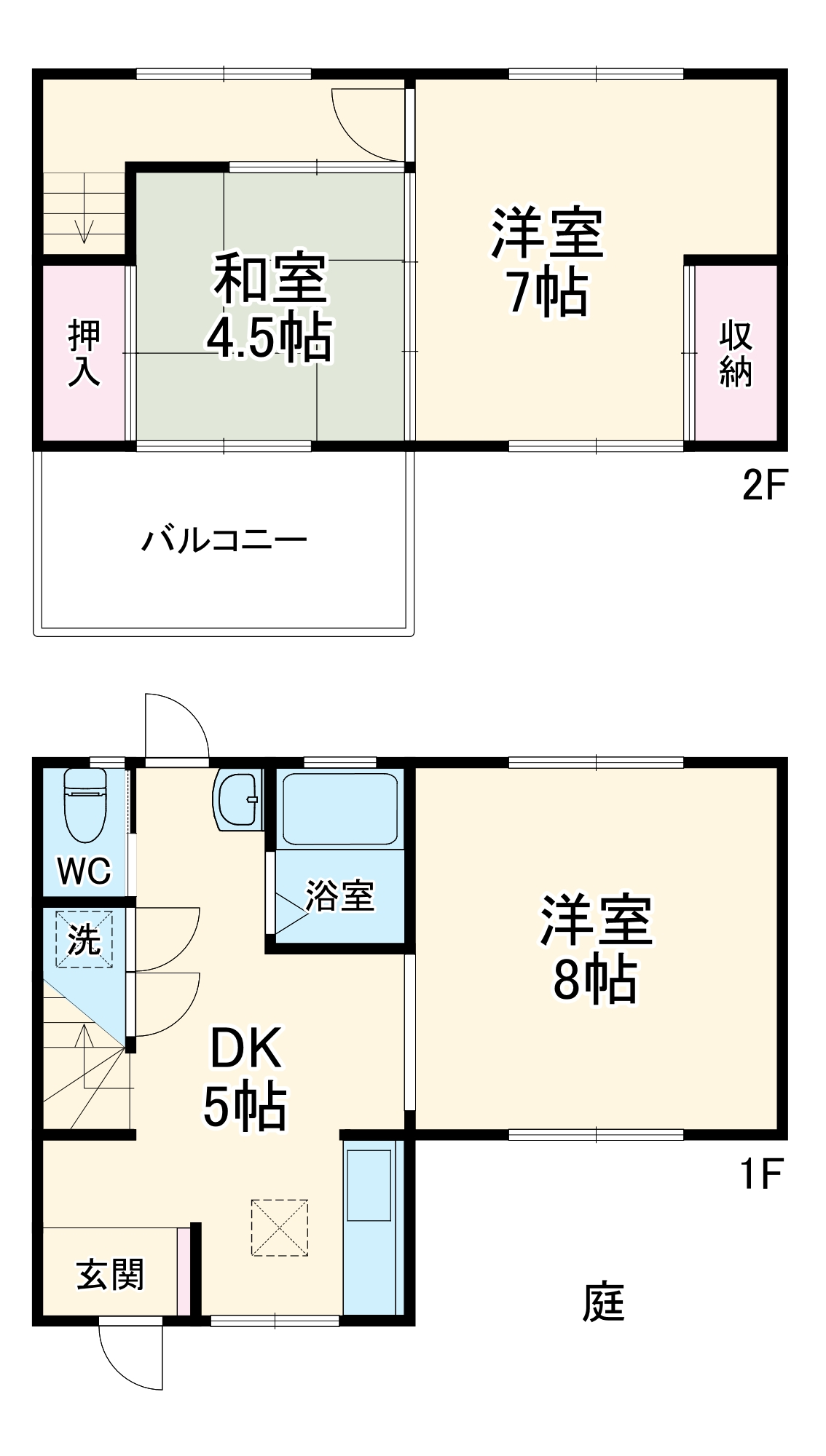 勝田台3丁目テラスハウス・1号室の間取り