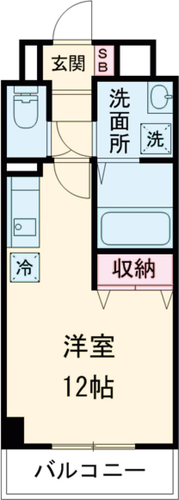 プラナス桜・302号室の間取り