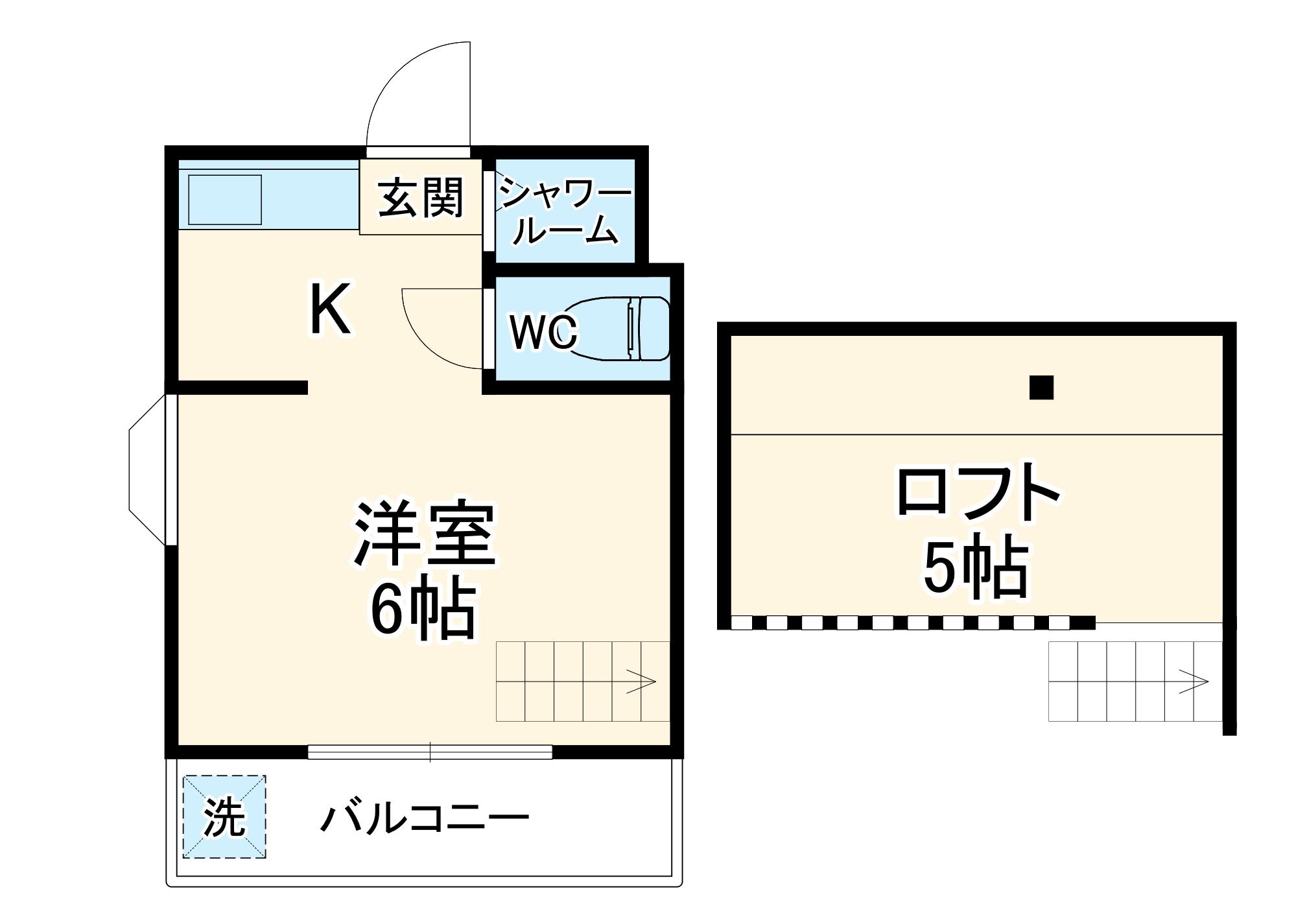 伸和ハイツ検見川・203号室の間取り