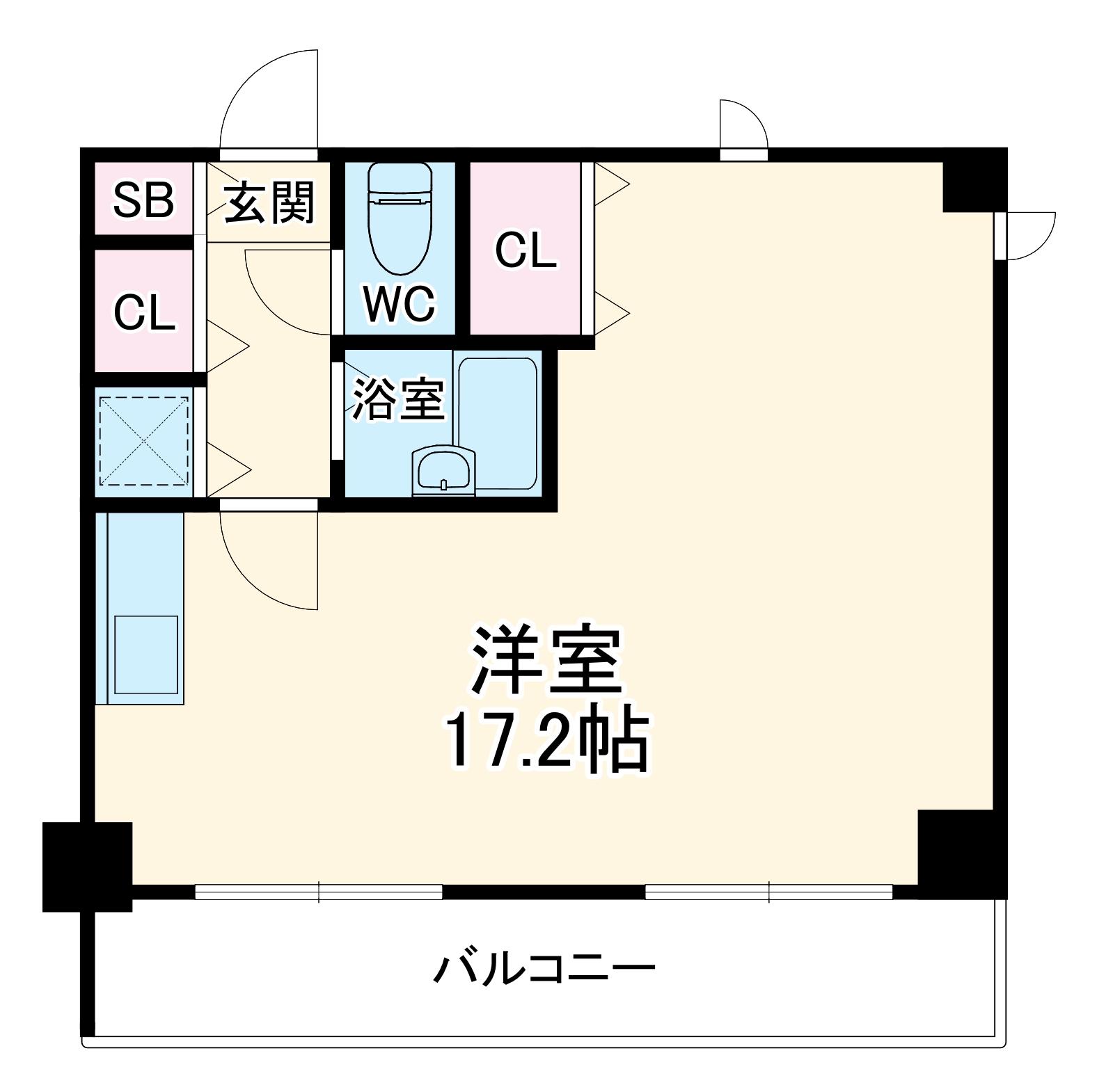ユニバーサルマンション・301号室の間取り