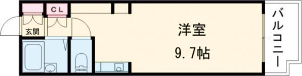 Navi2・501号室の間取り