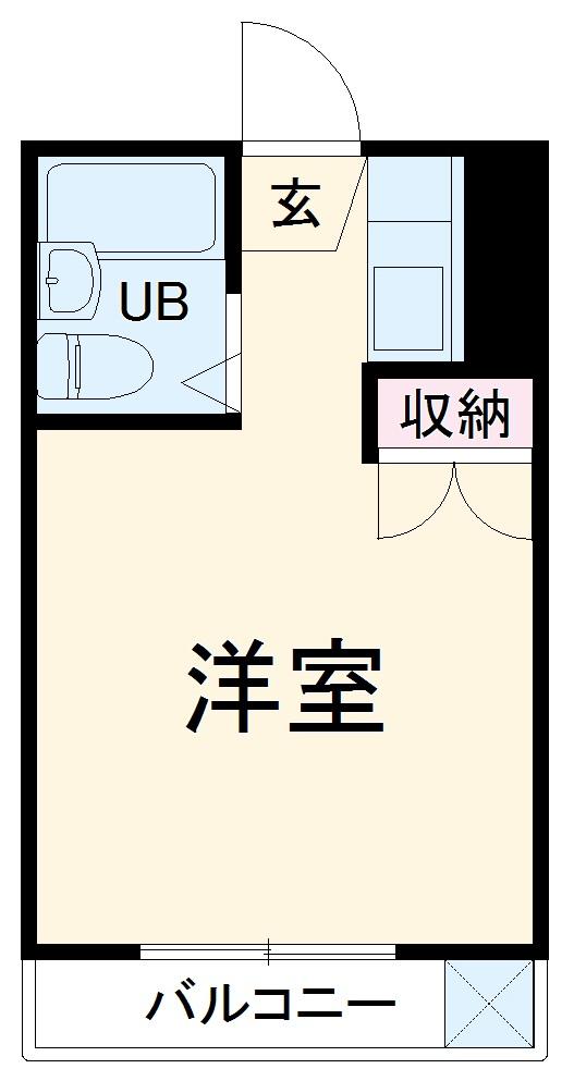 ライフステージ中浦和・207号室の間取り