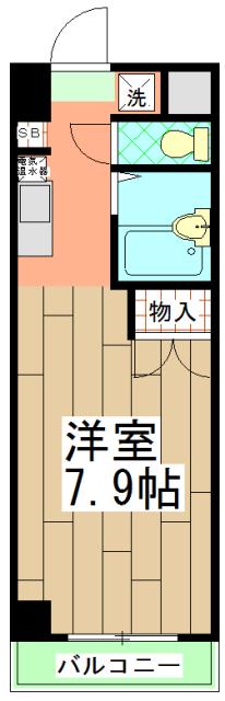 みつまめ京都・105号室の間取り