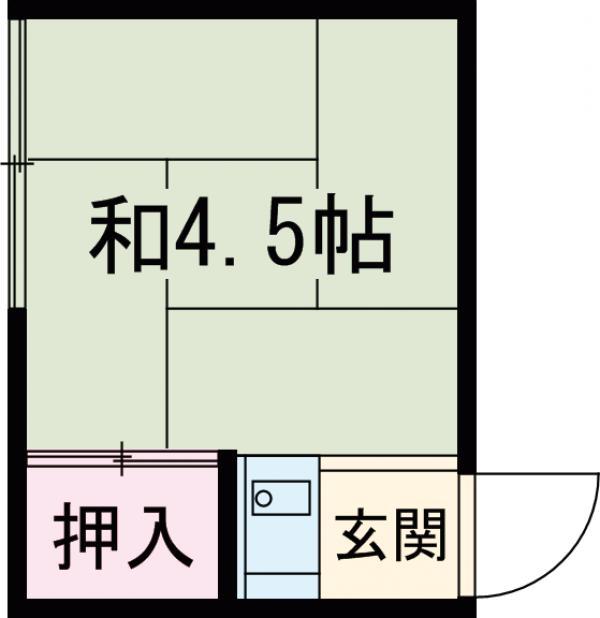 福寿館 213号室の間取り