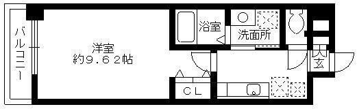 ラピスラズリ桜坂・502号室の間取り