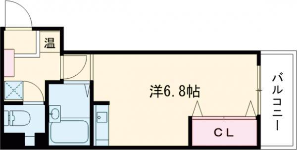 フローラ茨木・301号室の間取り
