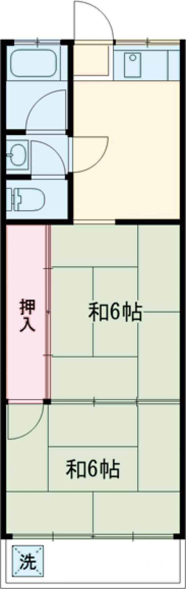 富士見コーポ 101号室の間取り