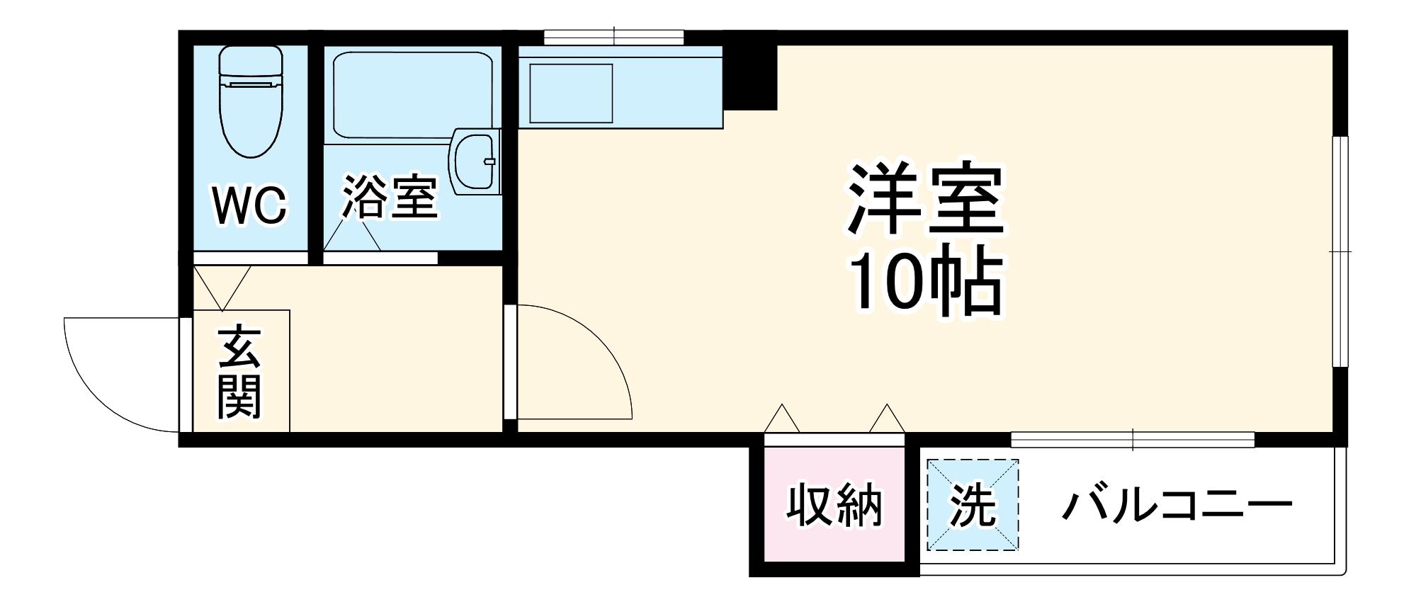 JPアパートメント豊中Ⅱ 405号室の間取り