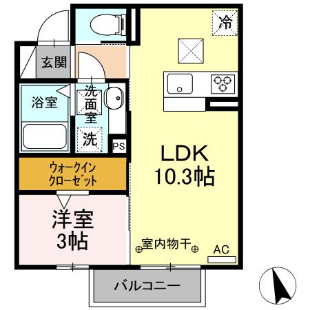 仮)D-room水主町 102号室の間取り