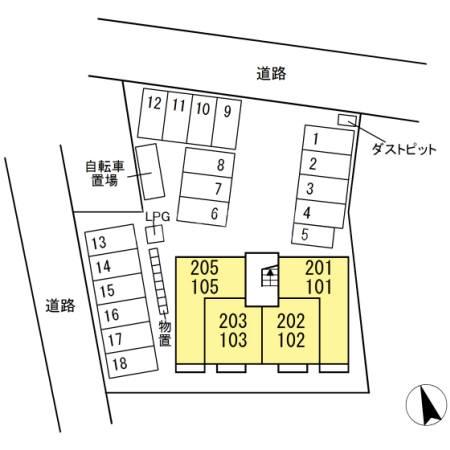 仮)D-room水主町 102号室のその他