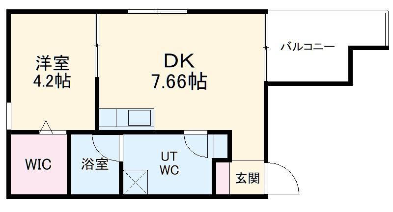 Precher 道徳通(プリシェール道徳通) 202号室の間取り