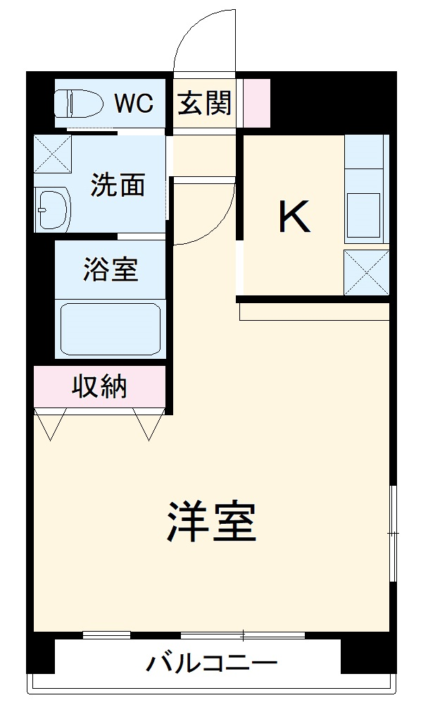 Orchid Court・107号室の間取り