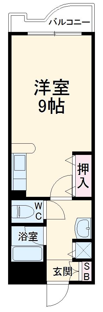 セラ箱崎南・203号室の間取り