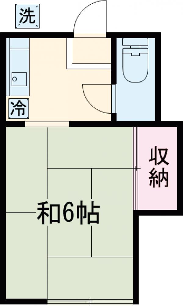 ヤマシンハウス・201号室の間取り