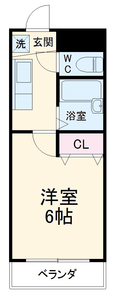 COCO西京極・302号室の間取り