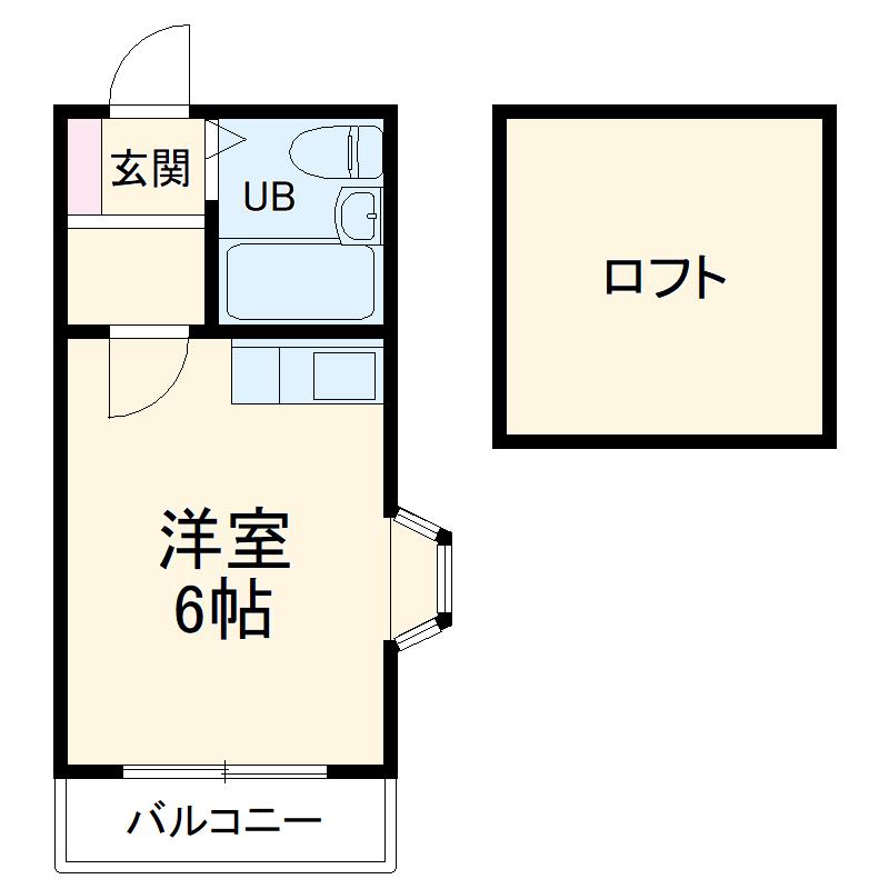 ミカサ富士見第二・104号室の間取り