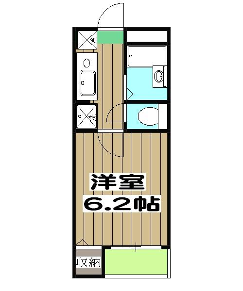 シェモア桂坂・201号室の間取り