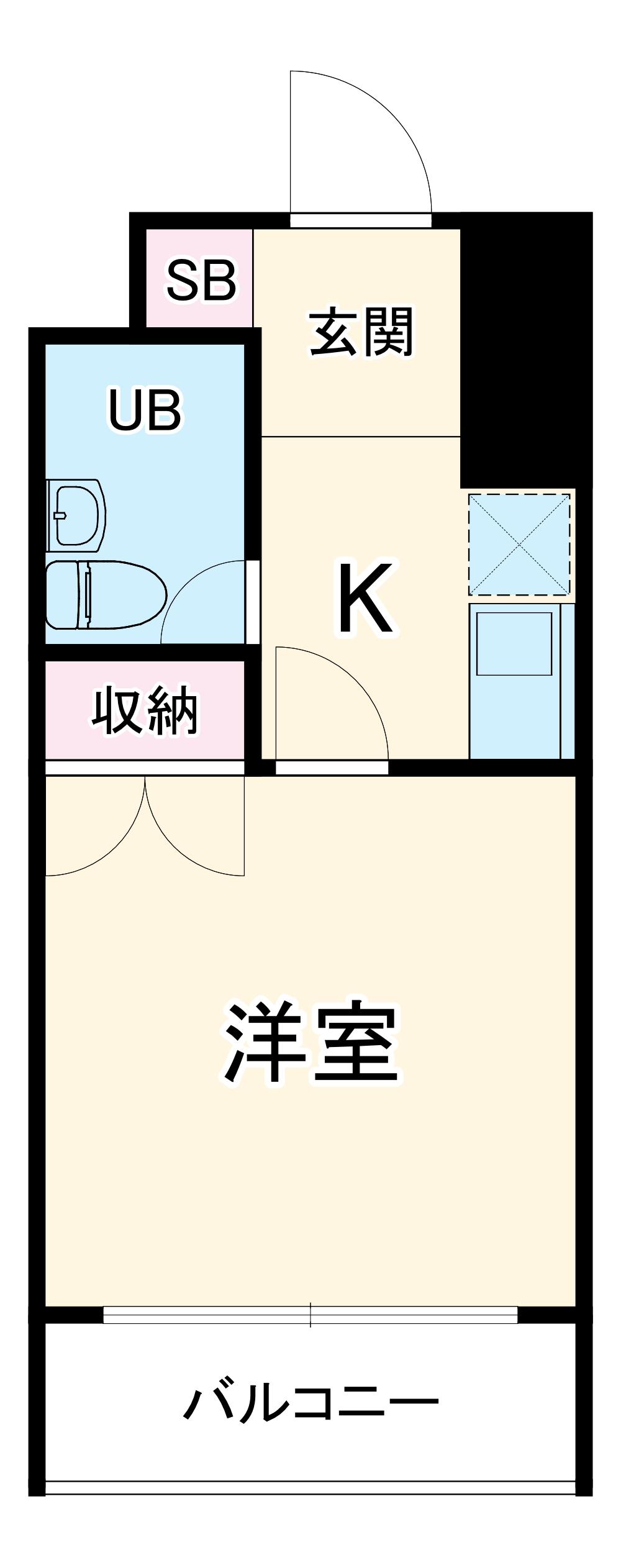 ベルトピア熊谷10・108号室の間取り