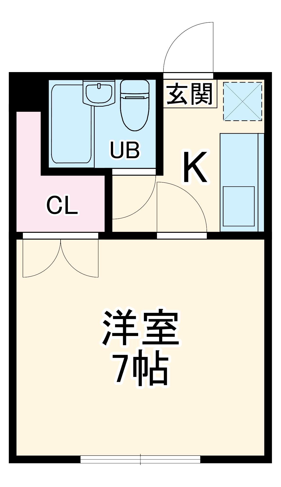 ベルメゾン・マルミヤ Ⅰ・Ⅱ・1-102号室の間取り