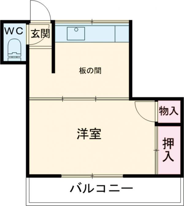堀田アパート 202号室の間取り