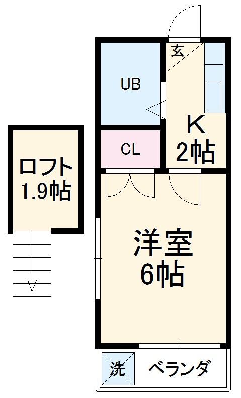 コスモメッツ鎌ケ谷 208号室の間取り