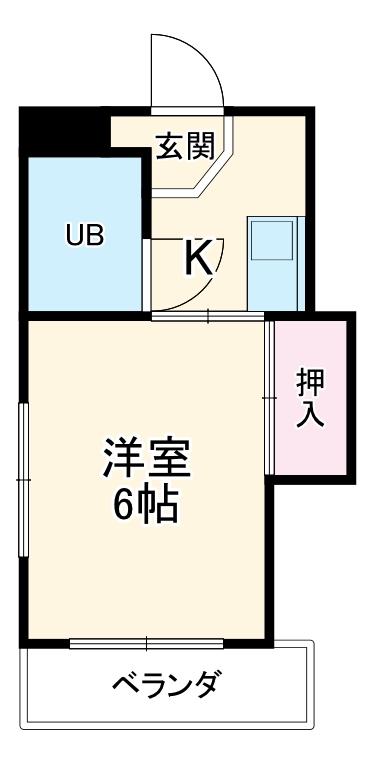 シャトーナカムラ・4G号室の間取り