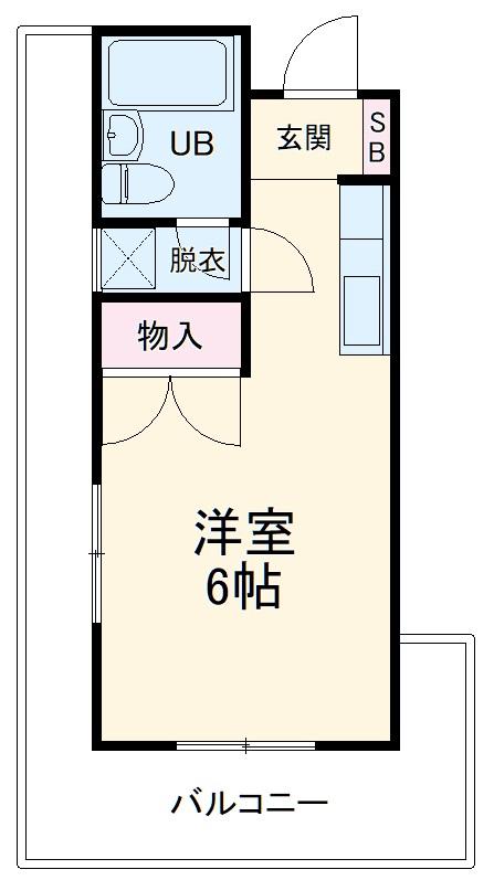 志陽ハイツ戸塚東 501号室の間取り