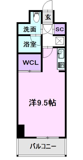 GRAN 30 NAGOYA・506号室の間取り