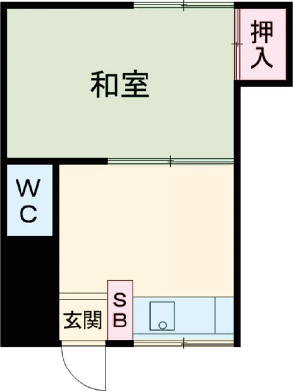 関根荘・103号室の間取り