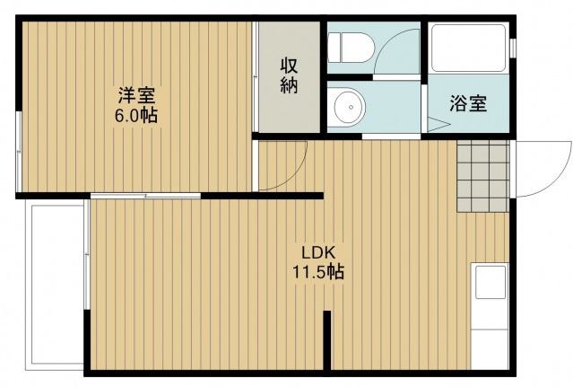 シティーコーポ深澤 A棟・205号室の間取り