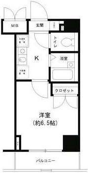 T&G東池袋マンション・1007号室の間取り
