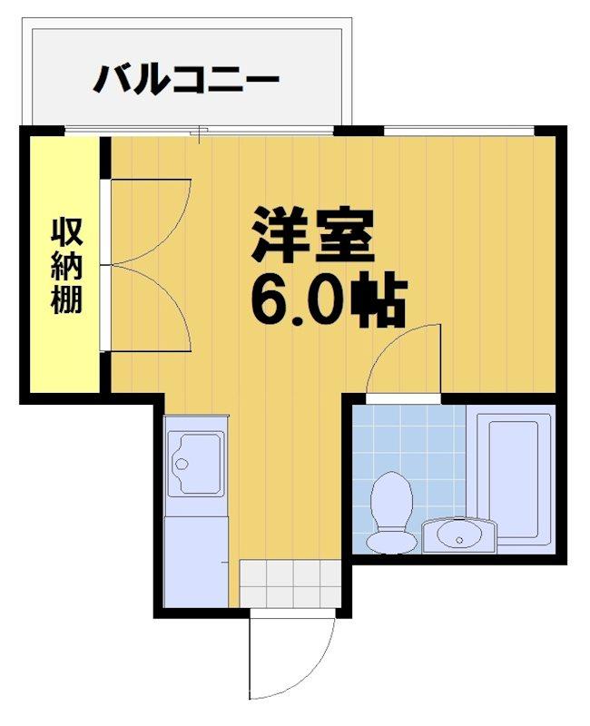 第28長栄四条SKハイツ・501号室の間取り