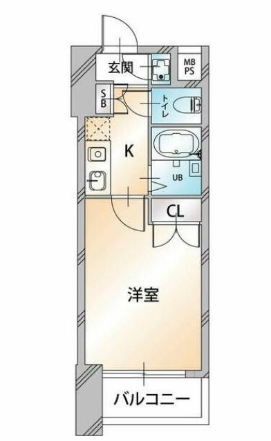 菱和パレス品川島津山 5F号室の間取り
