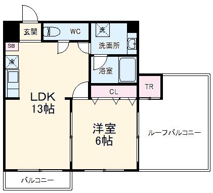 TBKマンション・702号室の間取り