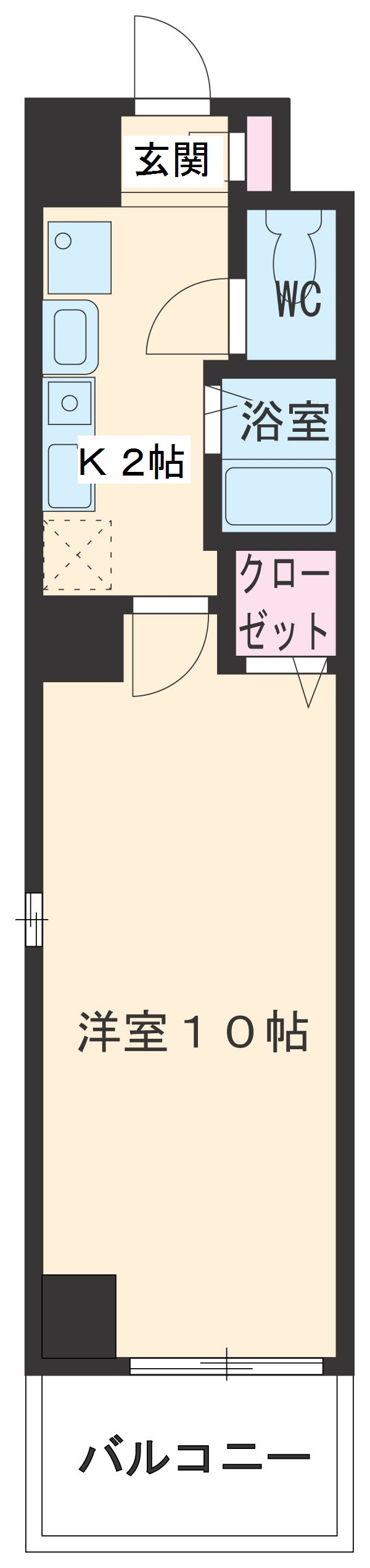 ITOH弐番館・201号室の間取り