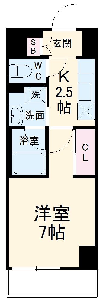 ラグゼナ武蔵新城・107号室の間取り