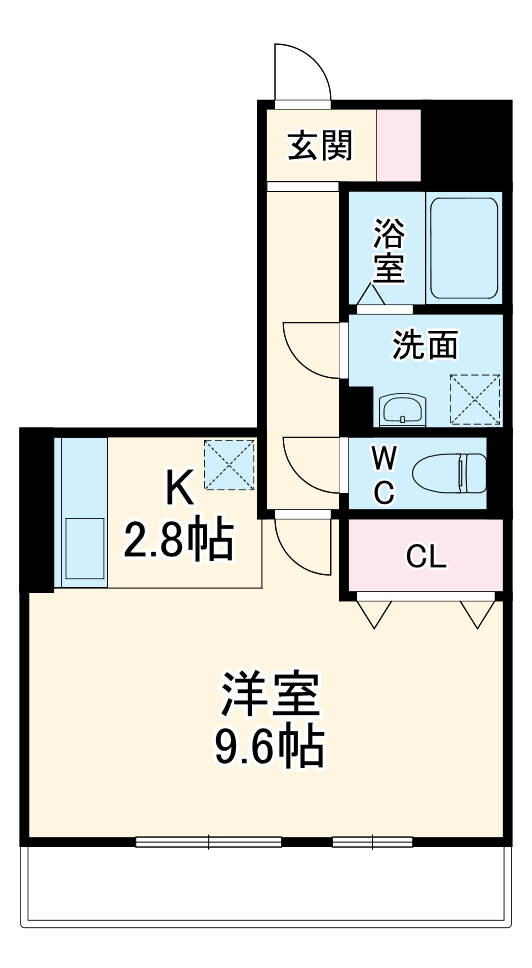 yukoto B・301号室の間取り