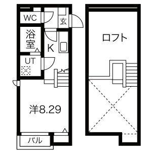 Calm矢田・205号室の間取り