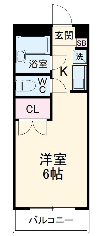 シュガーハイツ南大沢B・314号室の間取り