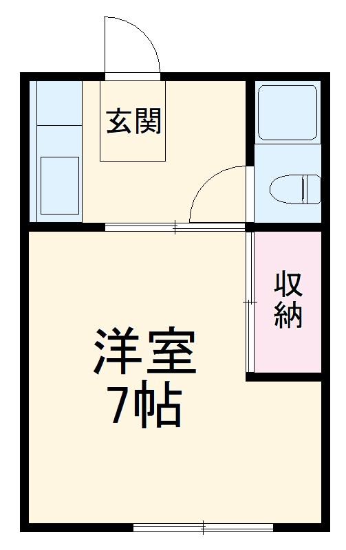コーポKANEKA1号館・107号室の間取り