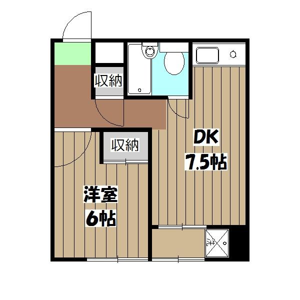 ネットワークジャパン2 201号室の間取り
