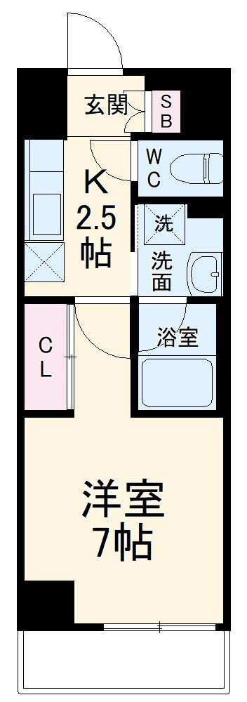 ラグゼナ武蔵新城・106号室の間取り