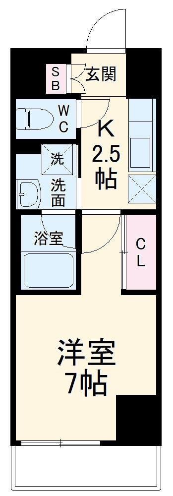 ラグゼナ武蔵新城・101号室の間取り