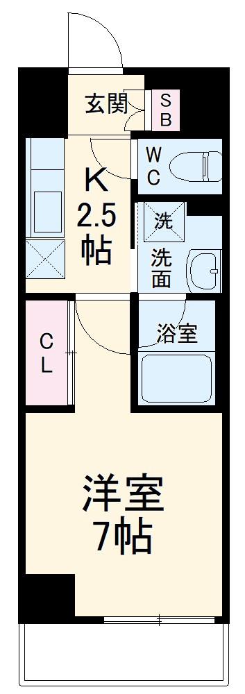 ラグゼナ武蔵新城・108号室の間取り