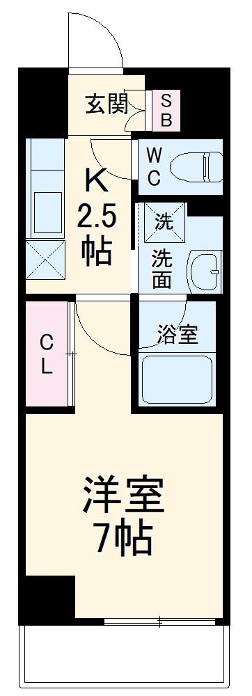 ラグゼナ武蔵新城・112号室の間取り