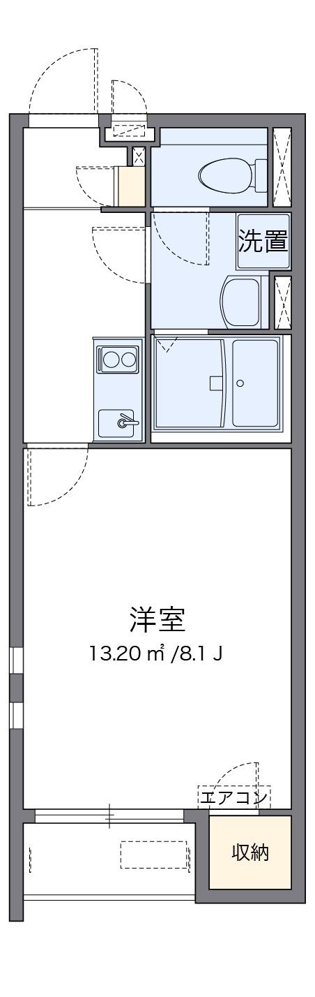クレイノ北神敷台・206号室の間取り