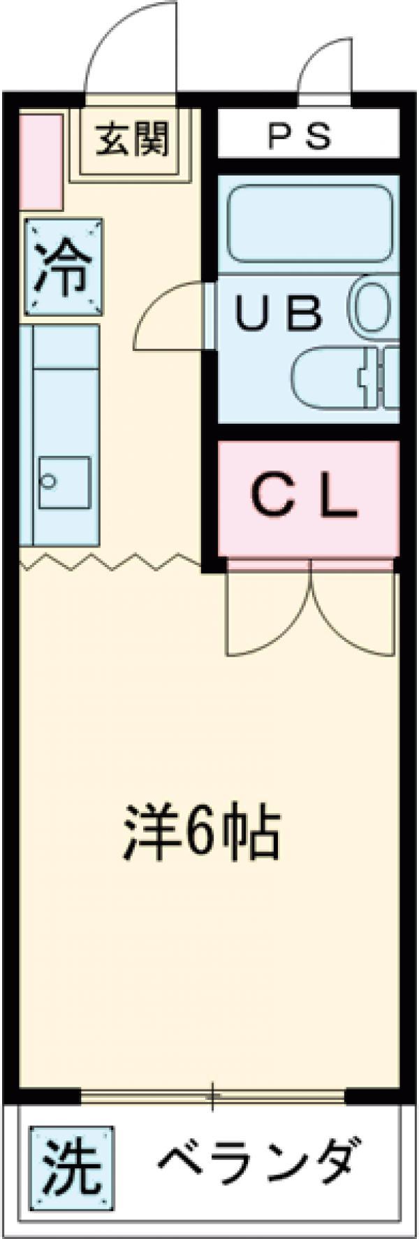 栄寿コーポ・107号室の間取り