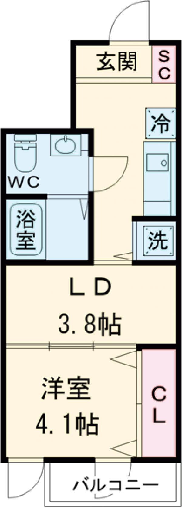コルティーレ上北沢・206号室の間取り