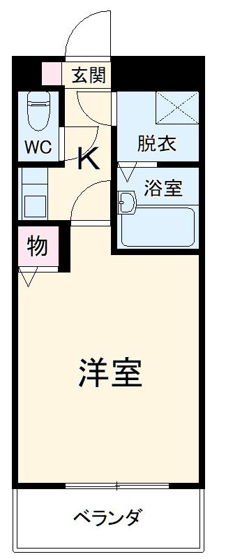 カーム富岡・40C号室の間取り